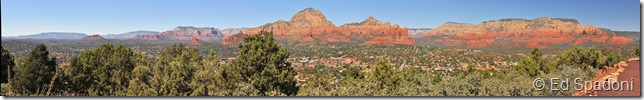 Sedona from airport Pano