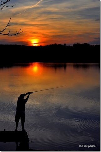 Fisherman at sunset