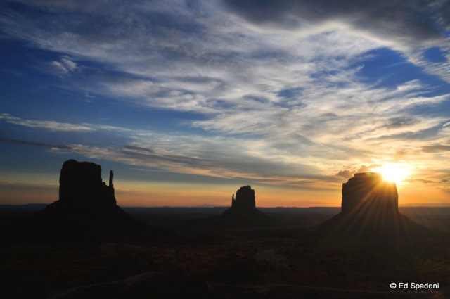 Monument Valley Sunrise: Sunburst