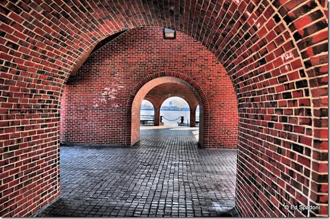 Boston Harbor, Bricks and arches, HDR