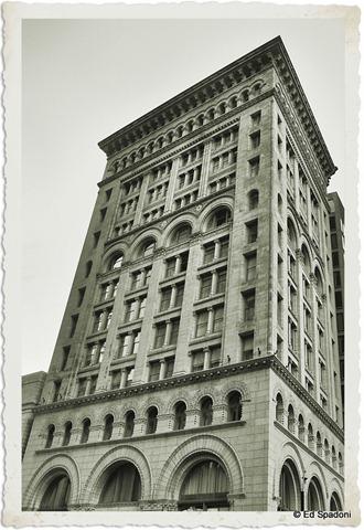 Boston Financial District, B&W