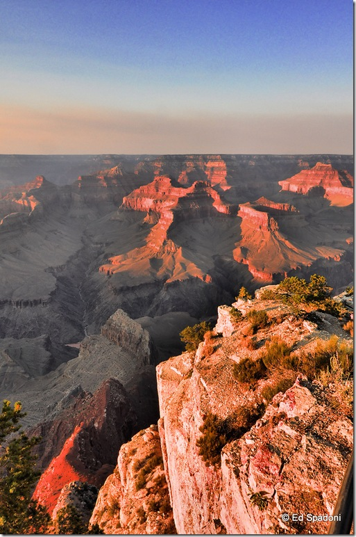 Grand Canyon sunset in HDR