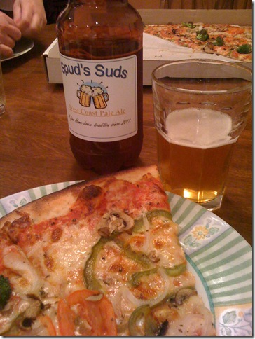 pizza and beer before Clarity