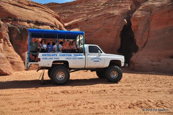 Carolene and Roger Ekis Antelope Canyon Tours bus