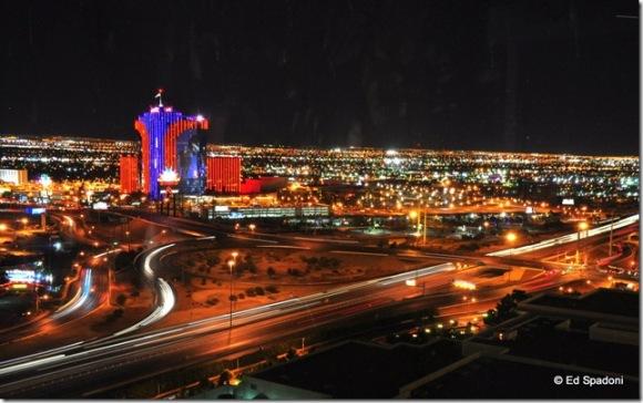 Las Vegas streets at night