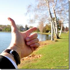 Using a circular polarizer, finger pointing