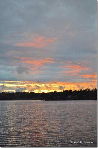 Sunset over the lake, A, f/2.2, 1/400 sec, EV 0