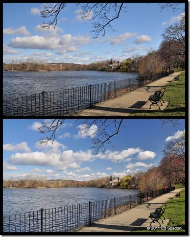 Ell pond collage, Melrose, circular polarizer