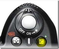 Exposure compensation button on D90