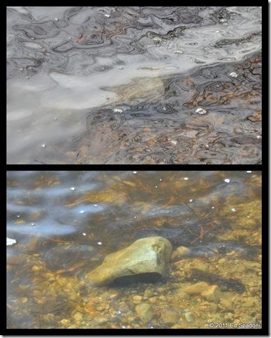 rock collage, circular polarizer