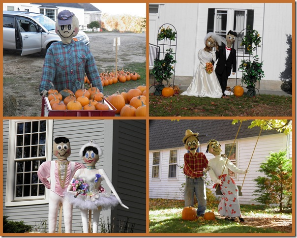 Neighborhood scarecrows, by Kyle