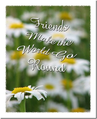 """Friends"" and daisies by Maryann Goldman"