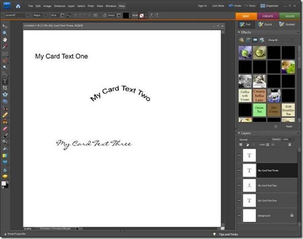 PhotoShop Elements Fonts