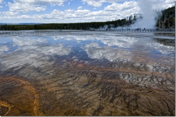 Grand Prismatic Spring in Yellowstone by Judy Horton
