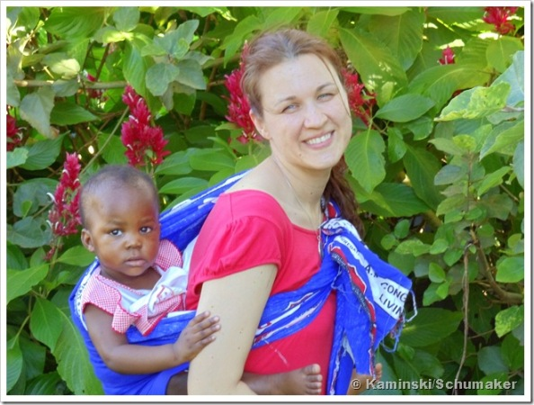 Donna Kaminski and a friend, in the Warm Heart of Africa