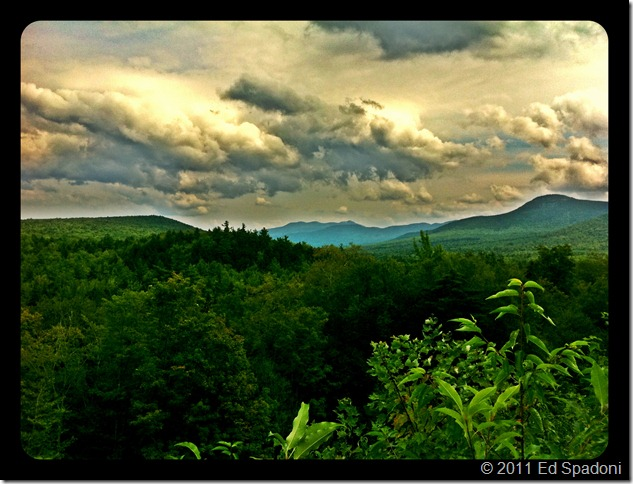 Ominous clouds viewed from Kankamagus Highway, White Mountains, NH