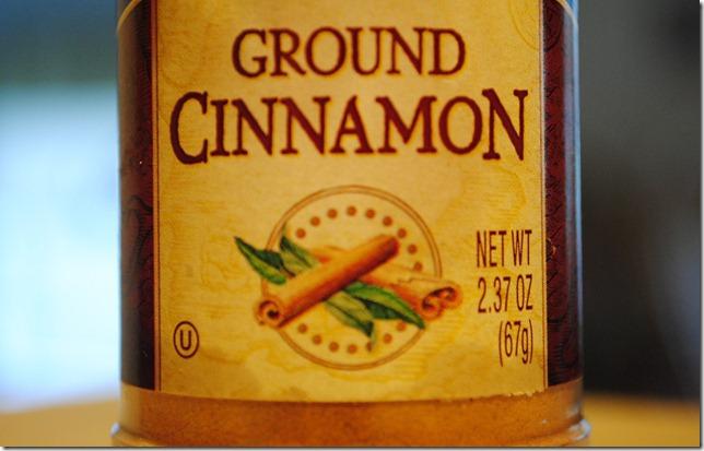 Ground cinnamon label