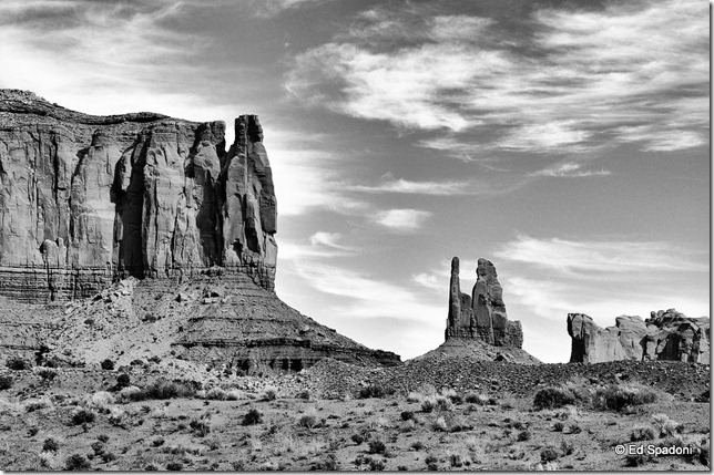 Entering Monument Valley (B&W)
