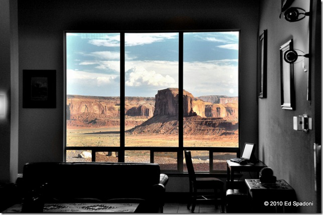 Monument Valley view from the lobby of The View Hotel