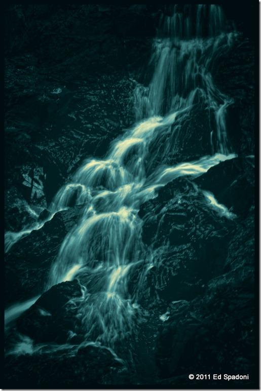 Night Falls Cyanotype