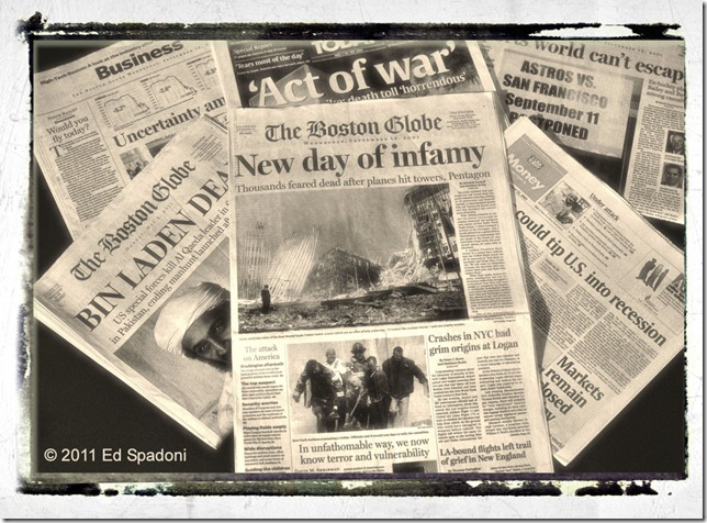 Newspapers from 9/12/2001