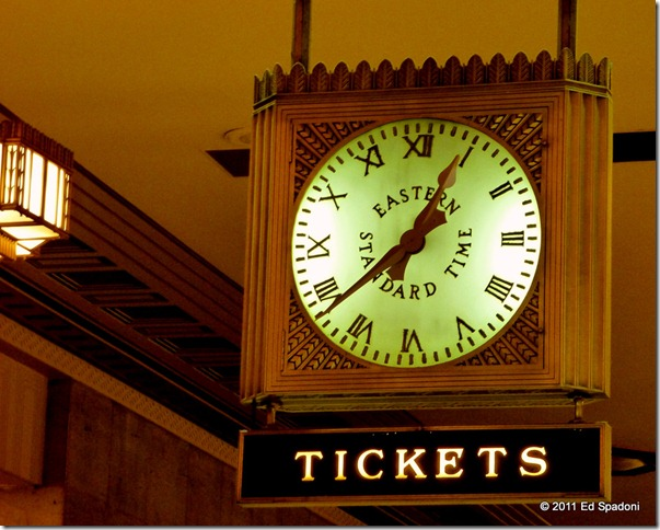 Clock at 30th Street Station, Philadelphia