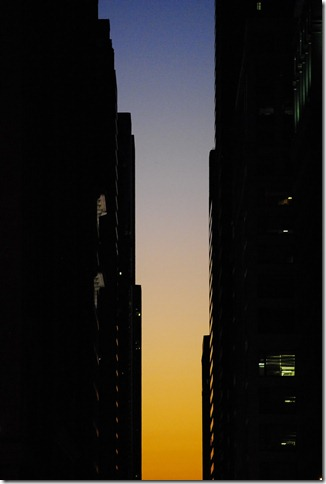 Rodney Daly, parallel skyscrapers in Chicago