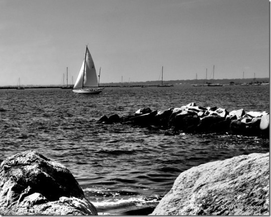 Mystic, CT in B&W