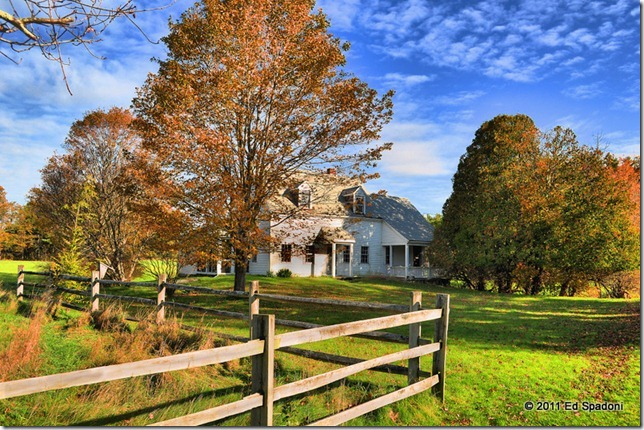 Autumn homestead in HDR