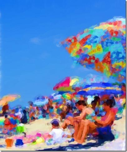 Kara's beach photo Modern Painting
