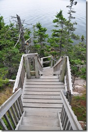 Stairway to the rocks below Bass Head Lighthouse