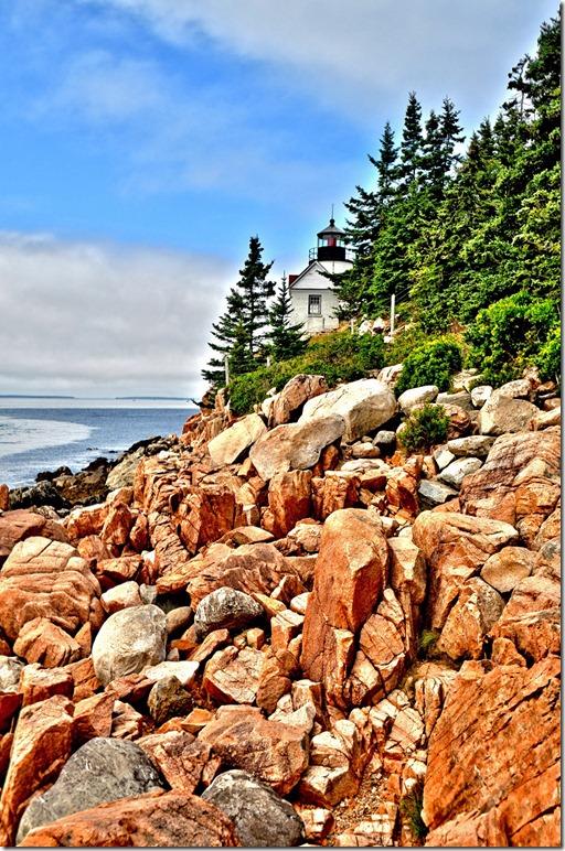 Bass Head Lighthouse, Mt. Dessert Island, Maine in HDR