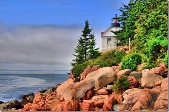 Bass Head Lighthouse, Mt. Dessert Island, Maine in HDR