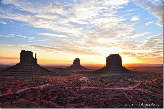 Monument Valley Sunrise, 2 guys photo