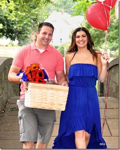 Amy and Jacob, footbridge, engagement, 2 guys photo, ed spadoni