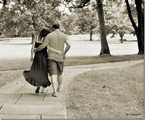 Amy and Jacob, path, walking, engagement, 2 guys photo, ed spadoni