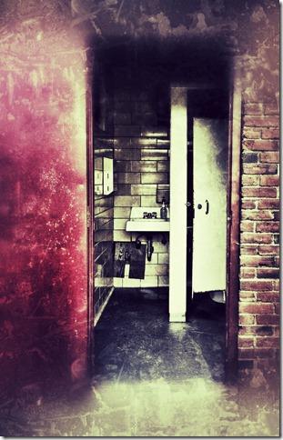 Oasis, restroom, public, 2 guys photo, ed spadoni