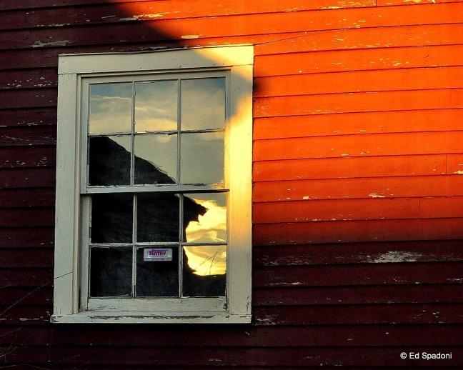 2 guys photo, freeport, maine, sunset, shadow, reflection