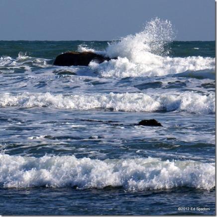Sony NEX 6, 55-210 zoom, f/13, 1/250s, waves, crashing, sea, Scituate, Massachusetts