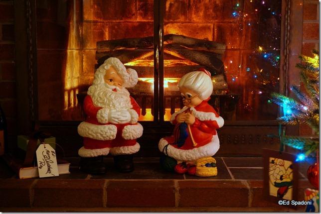 sony nex 6, long exposure, Christmas, Santa, 2 guys photo