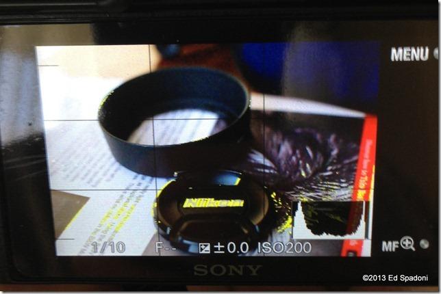 Focus peaking, Fotodix adapter, NEX 6