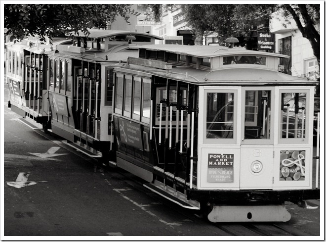 B Warren-King, street car, trolley, san francisco, black and white, BW, Canon T4i