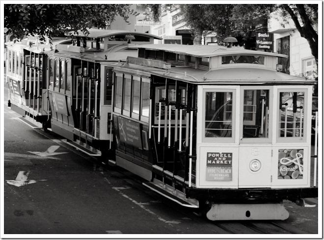 B Warren-King, street car, trolley, san francisco, black and white, BW, Canon T4i