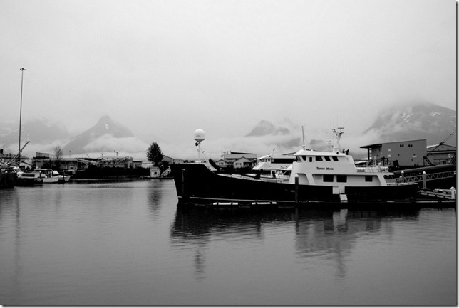 Valdez, alaska, harbor, BW, black and white, Nikon, D3000, Rodeny Daly
