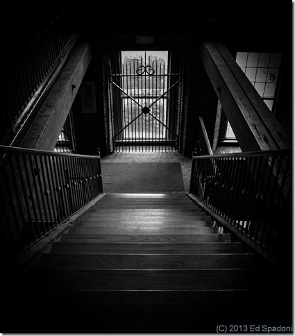 choice, black and white, B&W, stairs, Cocheco Falls, Dover, NH