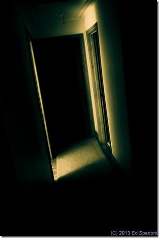 Fear, hallway, dark, shadows, scary