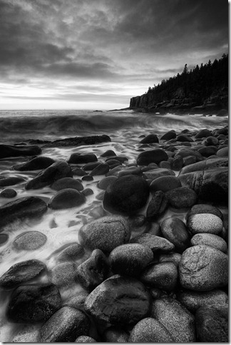 Patterson Otter Cliff in BW