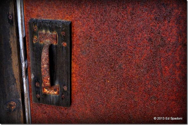 door, exit, old, rusty