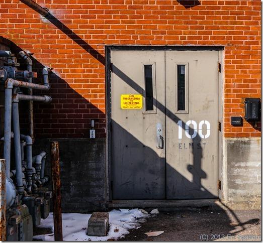 factory, doors, shadow, Sony NEX 6