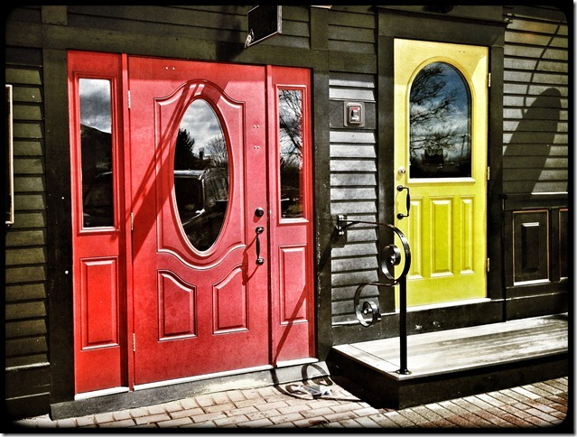 doors, decisions, choices, North Conway, color